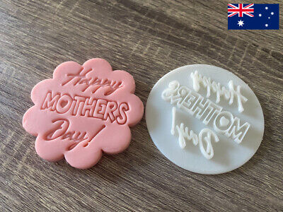 AU6.99 • Buy Happy Mother's Day Fondant Cookie Stamp Embosser