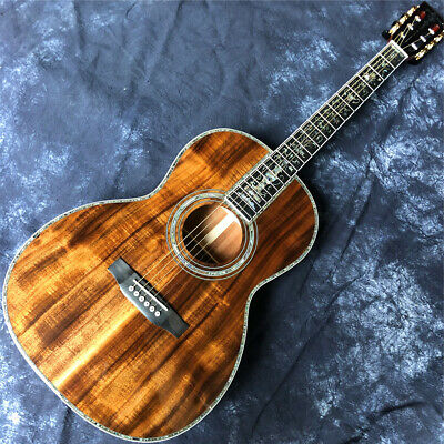 $758 • Buy 39 Inche All Solid Koa 000-size Acoustic Guitar,Ebony Fingerboard Abalone Inlays