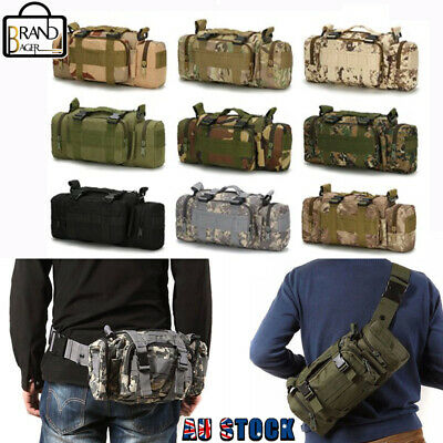 AU23.99 • Buy Outdoor Military Tactical Waist Bag Molle Camping Shoulder Chest Bag Fanny Pack