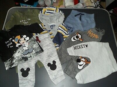 AU8.93 • Buy New Born, 0-3 Months Baby Boy's Clothes Bundle, Mickey Mouse Theme.