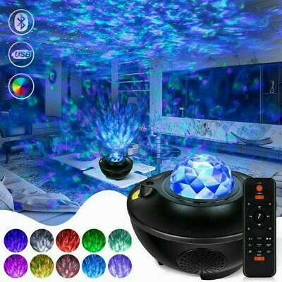 AU40.89 • Buy LED Galaxy Starry Night Light Projector Ocean Star Sky Party Kids Baby Room Lamp