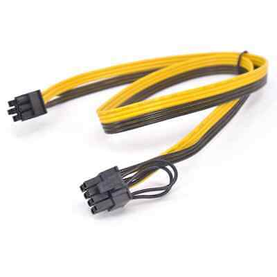 £4.95 • Buy 6 Pin To 8 Pin (6+2) PCIE Power Cable Mining Breakout Board GPU ASIC 50 60 70cm