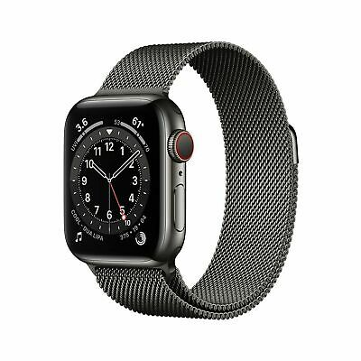 $ CDN864.25 • Buy Apple Watch Series 6 40mm Case With Milanese Loop - Graphite Stainless Steel