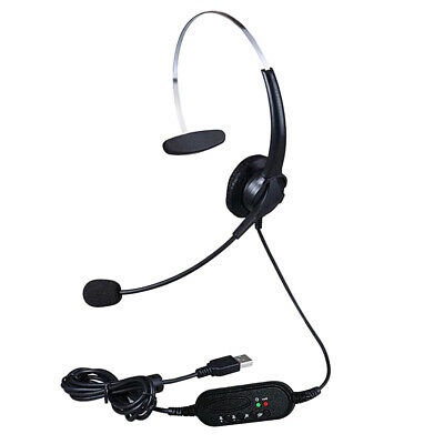 £8.32 • Buy Call Center Customer Service Wired Headset Monaural Computer Headphones