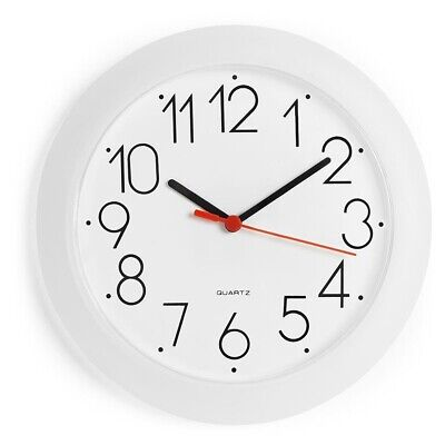 AU10.18 • Buy Anko 25cm Kitchen Wall Clock White Plastic Modern Home Decor Quartz Movement New