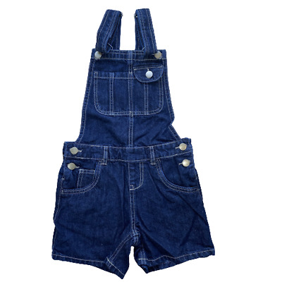 £9.95 • Buy Girls Denim Dungarees Shorts Jean Playsuit Age 8 To 15 Years