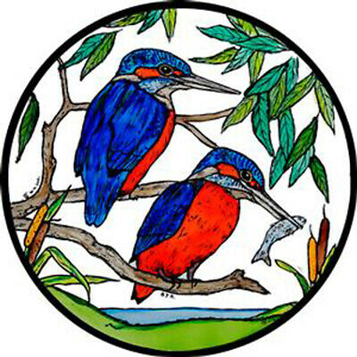 £5.25 • Buy Stained Glass Window Art - Static Cling  Decoration -  Kingfisher