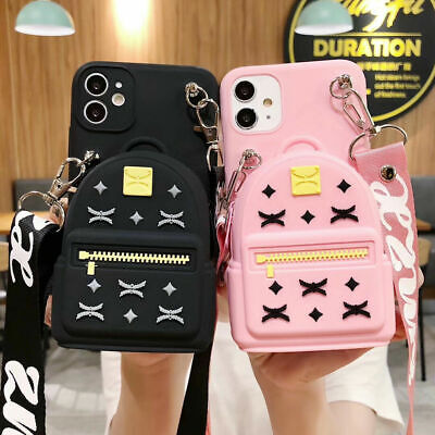 AU6.99 • Buy For OPPO Cute 3D Cartoon Schoolbag Coin Purse Wallet + Strap Stand Case Cover