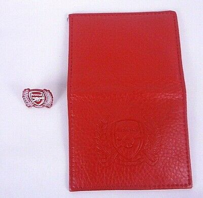 £10.75 • Buy Arsenal Season Ticket Credit Card Holder Wallet Red Leather - New ~  Plus Pin