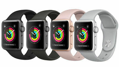 $ CDN75.19 • Buy Apple Watch Series 3 38MM 42MM - GPS Only Aluminum | Good Glass, LCD, Powers Up