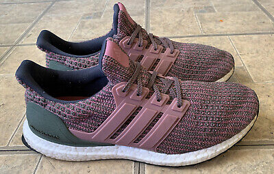 $ CDN50.13 • Buy Adidas Ultra Boost 4.0 Pink Olive Running Shoes BB6495 Women Size 10