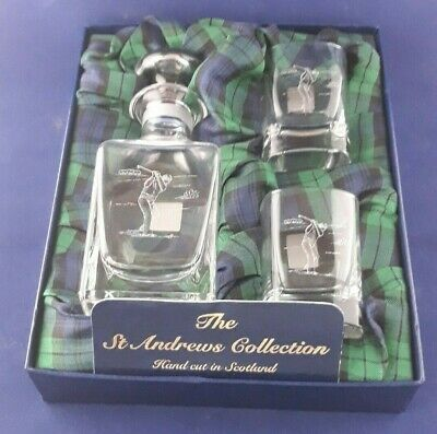 £85 • Buy Gleneagles Crystal Small Decanter & Glasses From The St. Andrew's Collection