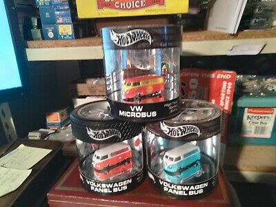 $ CDN58.73 • Buy Lot Of 3 Hot Wheels 1:64 Oil Cans Shell Vw Microbus , Red & Blue Vw Panel Bus