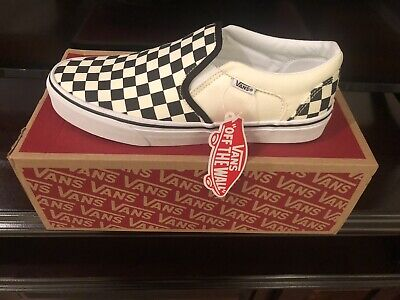 $ CDN46.24 • Buy Vans Black And Off White Checker Slip On Shoes Womens Size 6 Never Worn New.