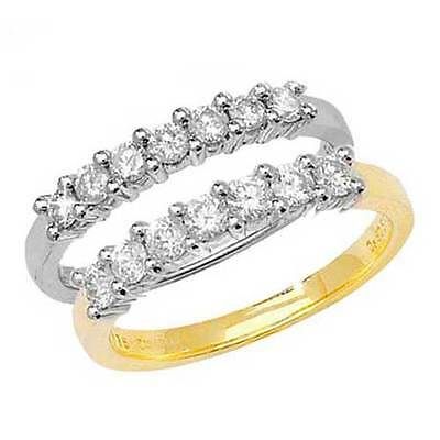 AU395.39 • Buy 9ct White Or Yellow Gold 7 Stone Diamond (0.25ct To 0.50ct) Half Eternity Ring