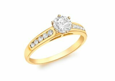 AU380.02 • Buy 9ct Yellow Gold Round Stone Solitaire Ring