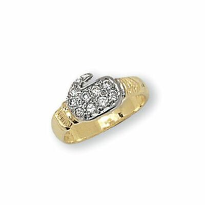 AU151.41 • Buy 9ct Yellow Gold Boxing Glove Babies Ring  New