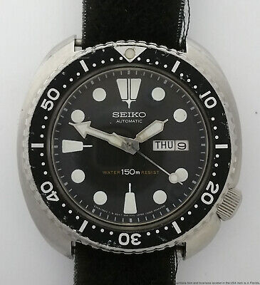 $ CDN238.09 • Buy Vintage Seiko Turtle Diver 6309-7049 150m Day Date Automatic Steel Watch