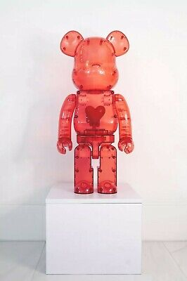 $1999.99 • Buy Bearbrick Emotionally Unavailable Clear Red Heart 1000% In Hand