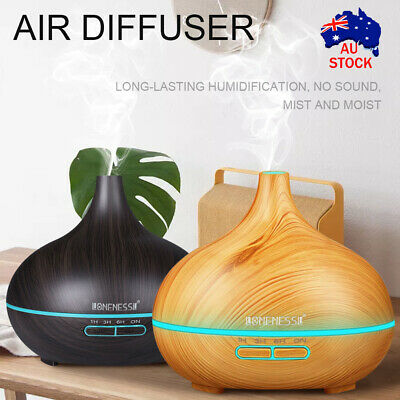 AU17.98 • Buy 550ml Air Humidifier Purifier Essential Oil Diffuser Aroma Aromatherapy Lamp LED
