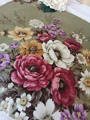 £8 • Buy Vintage Curtain Reclaimed Fabric Sandersons Cabbage Rose Pk 1
