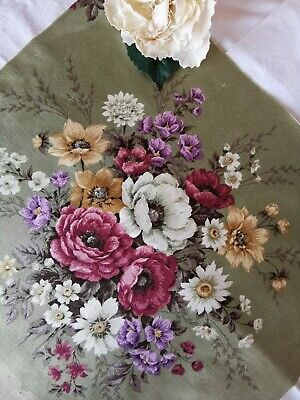 Vintage Reclaimed Time Worn Fabric Sandersons Cabbage Rose Pk 2 • 12£