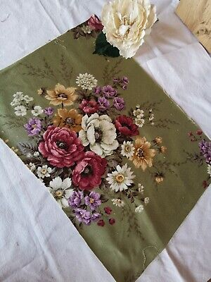 Vintage Reclaimed Fabric Sandersons Cabbage Rose Pk 4 • 8£