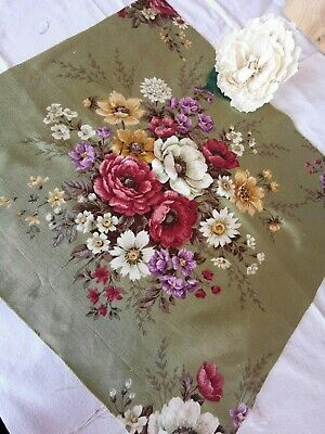 Vintage Reclaimed Time Worn Fabric Sandersons Cabbage Rose Pk 6 • 12£