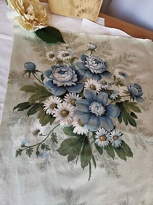 Vintage Sandersons Fabric Reclaimed Cabbage Roses Pk 10 • 12£