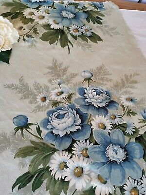 Vintage Sandersons Fabric Reclaimed Cabbage Roses Pk 13 • 12.50£