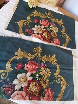 Vintage Sandersons Fabric Reclaimed Cabbage Roses Linen Union  Pk 16 • 18£