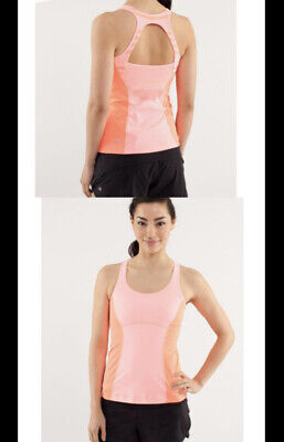 $ CDN11.24 • Buy Lululemon Tank Top 4 Orange Pop Run Pace Yoga