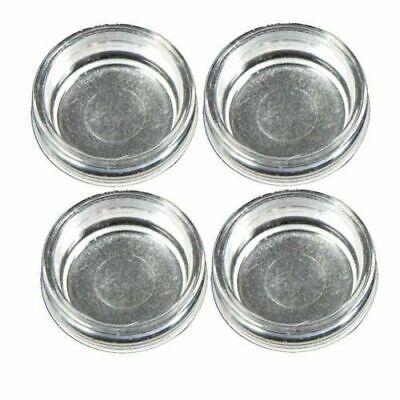 £3.99 • Buy 4 X Small CLEAR Castor Cups Carpet Floor Chair Sofa Furniture Protectors Caster