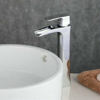 £49.89 • Buy Waterfall Counter Top Basin Mixer Tap Taps Bathroom Sink Tall Chrome Faucet