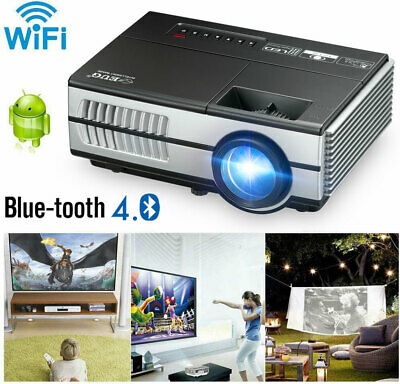 AU136.90 • Buy EUG Android WiFi Mini Projector Full HD 1080P Portable Home Cinema Blue Tooth TV