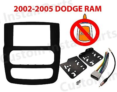 $19.99 • Buy Stereo Radio Double Din Install Dash Kit Fits 2002 2003 2004 2005 DODGE RAM