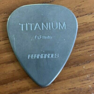 $ CDN18.73 • Buy 100% Titanium Fernandes Guitar Pick 0.8 Mm