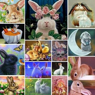 AU12.48 • Buy Rabbits DIY Diamond Painting Full Drill Animal Home Decor Art Embroidery Gifts