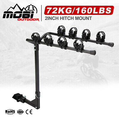 AU57.99 • Buy MOBI 4 Bicycles Bike Rack Carrier For Car Rear Towbar 2 Inch Hitch Mount