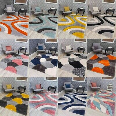 £59.99 • Buy Thick Pile Shaggy Rugs Shiny Silky Super Soft Deep Luxurious 3D Floor Carpets UK