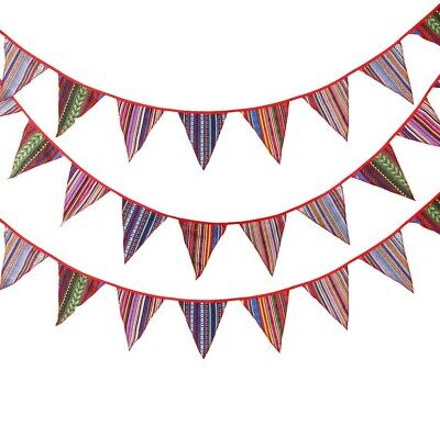 £3.78 • Buy 5M Flag Pennant Cotton Bunting Birthday Decoration Room Decoration Tent Banner