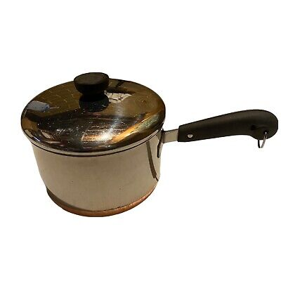 $ CDN42.51 • Buy Vntg Revere Ware 3 Quart Saucepan With Lid Copper Clad Stainless Riverside CA