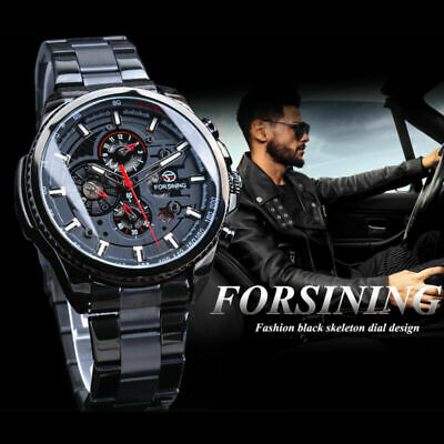 £25.89 • Buy Luxury Mens Watches Mechanical Automatic Self-Winding Stainless Steel Skeleton.