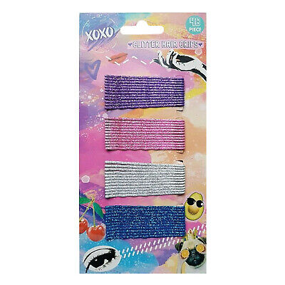 48 Glitter HAIR GRIPS Kirby Salon Bobby Pins Slides Clips Clamps Waved 6cm Long • 2.99£