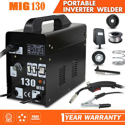 £85.99 • Buy Gasless Mig Welder 130 New No Gas 120 Amp Flux Wire NON LIVE TORCH Soldering