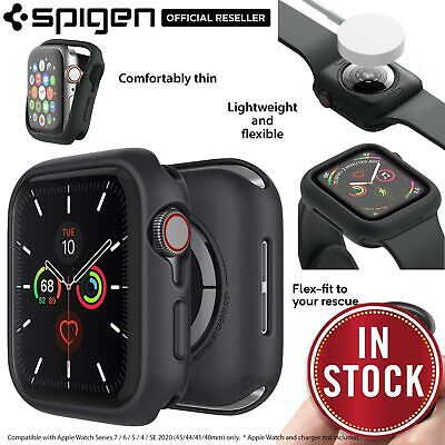AU14.99 • Buy For Apple Watch Series 6 SE 5 4 40/44mm Case Spigen CASEOLOGY Nero Rugged Cover
