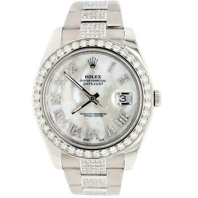 $ CDN17408.71 • Buy Rolex Datejust II 41MM Watch W/MOP Diamond Dial Bezel Bracelet 116300 Box Papers
