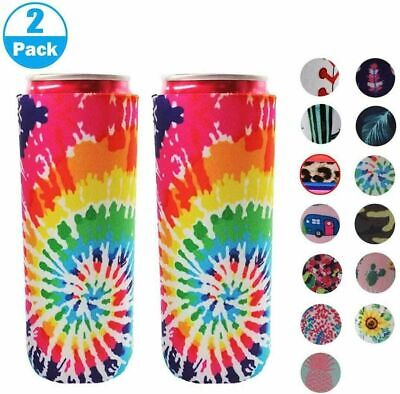 £5.49 • Buy 2pcs Neoprene Slim Beer Can Cooler Sleeve Holder Cover Cooling Beer Can Cover