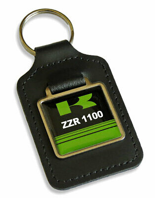 £5.49 • Buy ZZR 1100 Motorcycle Leather Keyring Key Fob Gift For ZZR1100 Keys Keyfob Parts