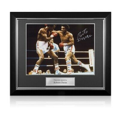 AU340 • Buy Roberto Duran Signed Boxing Photo. Deluxe Frame